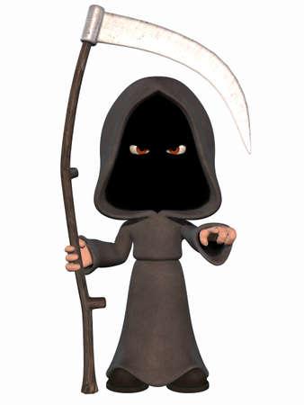 scythe: Dibujos animados muerte  Foto de archivo