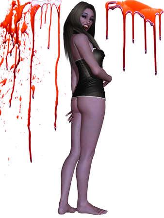 Female Vampire - 3D Figure Stock Photo - 7675783