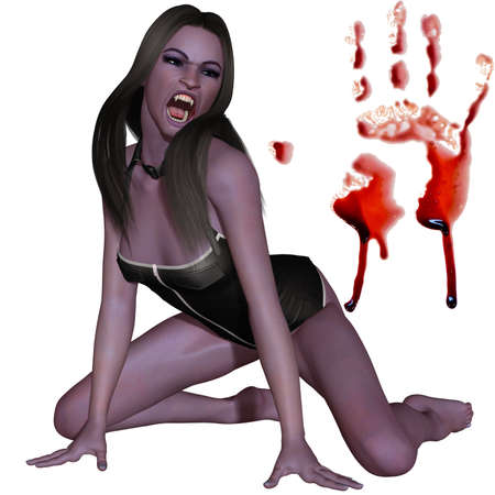 3d scary: Female Vampire - 3D Figure
