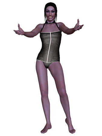 3d vampire: Female Vampire - 3D Figure