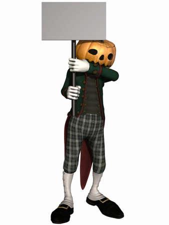 mister: Mister Pumpkin - Halloween Toon Figure