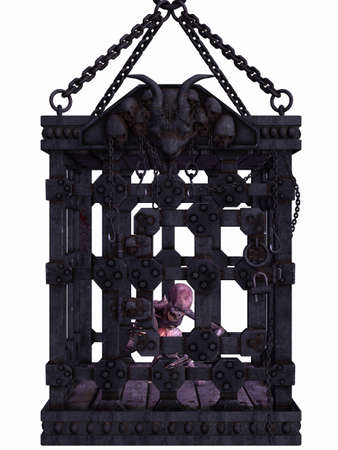 hallow: Zombie in a cage - Halloween Figure Stock Photo