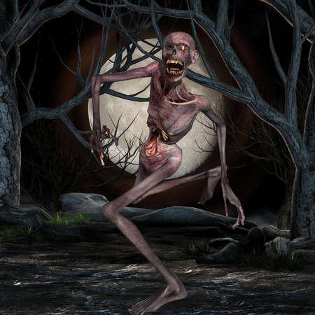 3d scary: Zombie - Halloween Figure