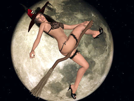 sexually: Sexy Witch Stock Photo