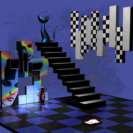 Abstract 3D Room Stock Photo - 7769673
