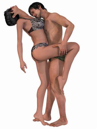 desnudo masculino: Retrato de una pareja sexy