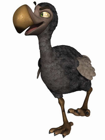 flightless bird: Toon Dodo Stock Photo