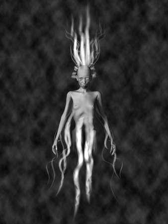 specter: Female Ghost Stock Photo