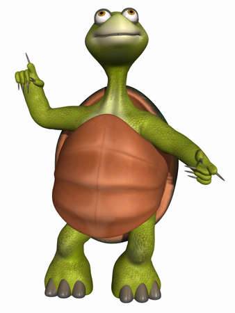 stare: Toon Turtle Stock Photo