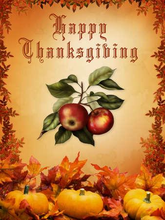 cuerno de la abundancia: Feliz de acci�n de gracias
