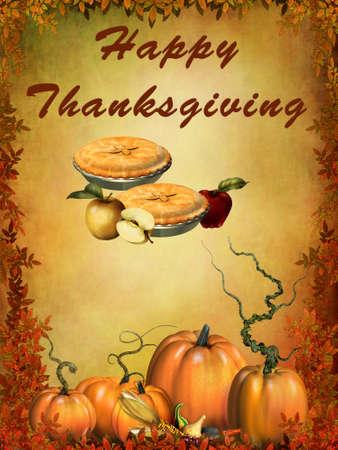 cornucopia: Happy Thanksgiving Stock Photo