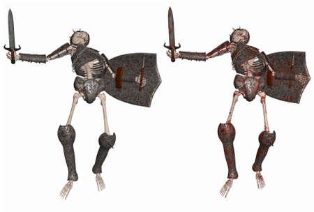 real people: Skeleton Warrior Stock Photo