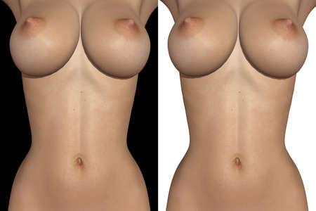 erotic breast: Female body part  Stock Photo