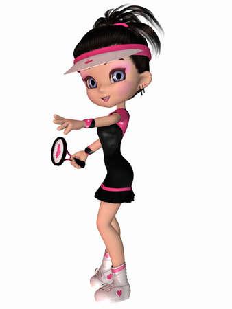 Cute Tennis Player  photo