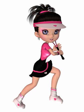tennis girl: Cute Tennis Player