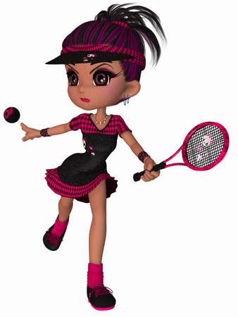 Cute Tennis Player Stock Photo - 9136447