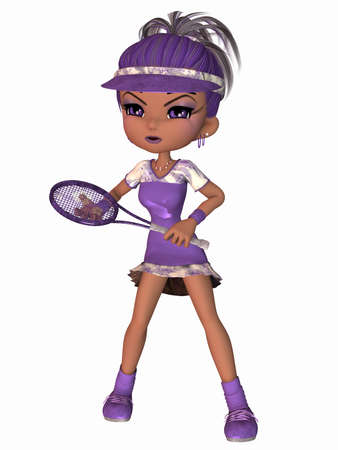 Cute Tennis Player Stock Photo - 9136441