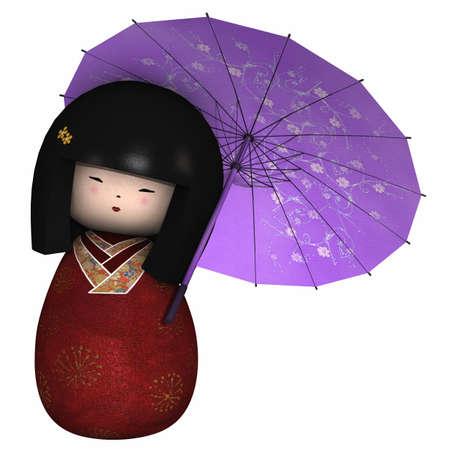 Traditionelle japanische Puppe