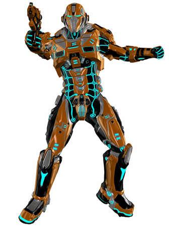 Futuristic soldier photo