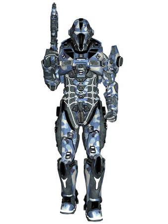 Futuristic soldier Stock Photo - 9554961