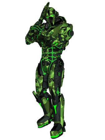 Futuristic soldier Stock Photo - 9554958