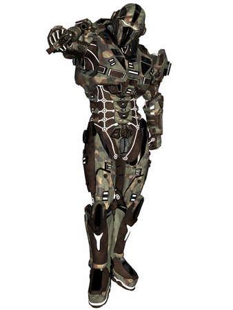 Futuristic soldier Stock Photo - 9554959
