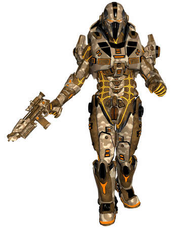 dangerous weapons: Futuristic soldier