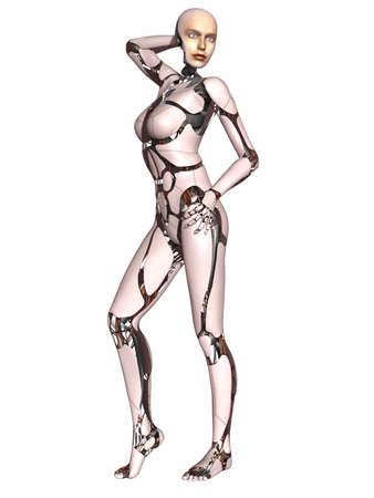 Female Cyborg Stock Photo - 9554991