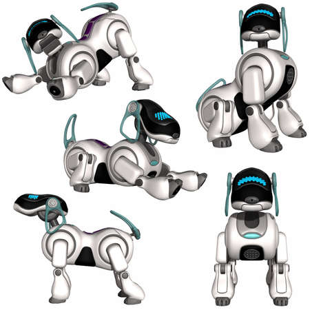 robot caricatura: Perro robot