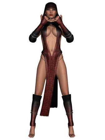 priestess: Sexy Fantasy Priestess Stock Photo