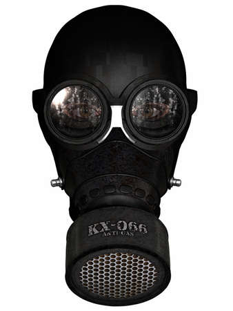 Girl in gasmask photo