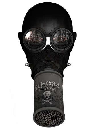 gasmask: Girl in gasmask