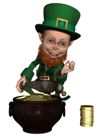 irish leprechaun Stock Photo - 9865679