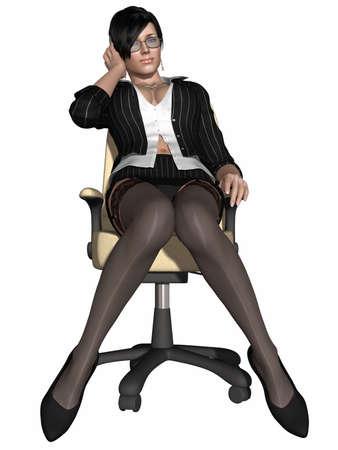 sexy skirt: Hot sexy teacher Stock Photo