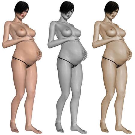Nude pregnant woman Stock Photo - 10011396