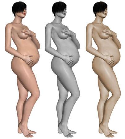 Nude pregnant woman Stock Photo - 10011392
