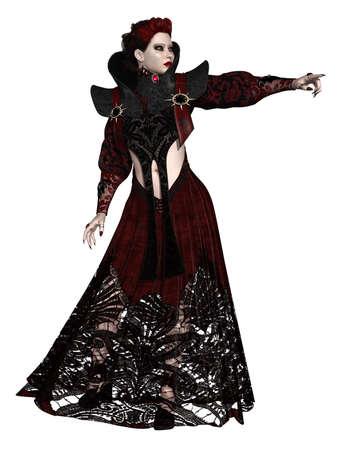 fantasy makeup: Fantasy Halloween Figure Stock Photo
