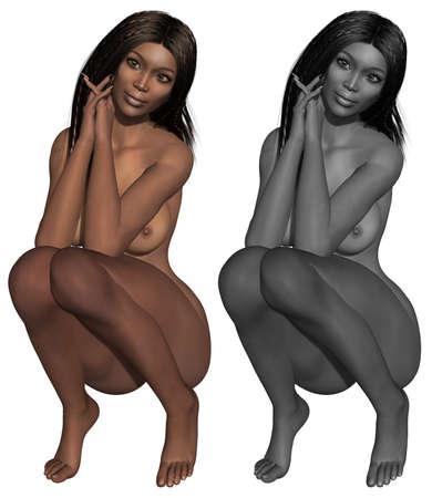 nudity: Naked female body Stock Photo