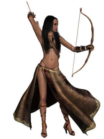 Fantasy Action Figure Stock Photo