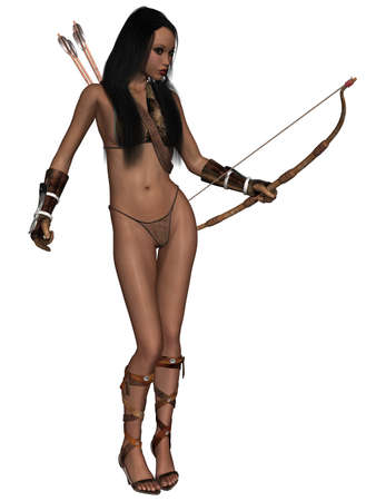 medieval woman: Fantasy Action Figure Stock Photo