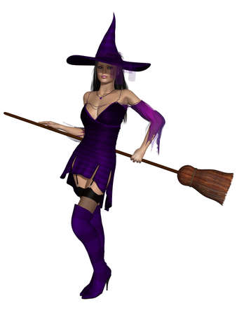 representations: Halloween Witch Stock Photo