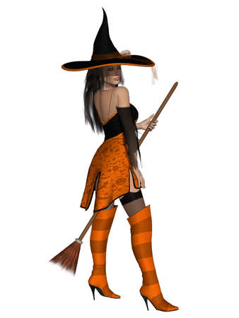 Halloween Witch Stock Photo - 10251419