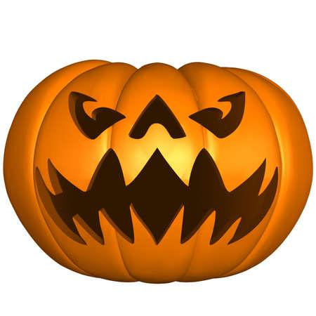 scary face: Halloween Pumpkin Stock Photo