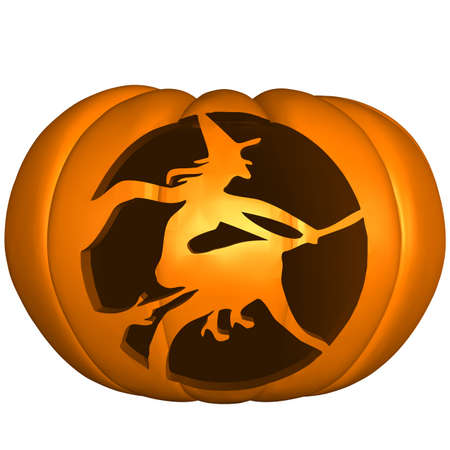 scary pumpkin: Halloween Pumpkin Stock Photo