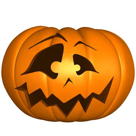 calabaza caricatura: Calabaza de Halloween