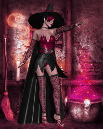 oz: Halloween Witch Stock Photo