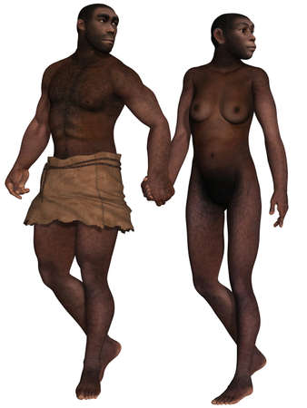 cretaceous: Homo Erectus  Stock Photo