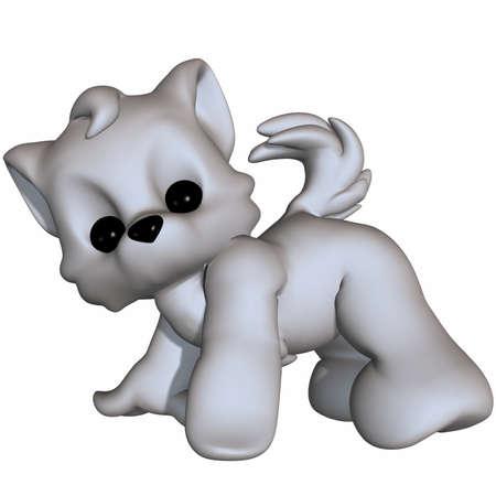 Cute Wolf - Toon Figure photo