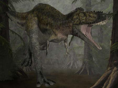caudal: Alioramus - 3D Dinosaur