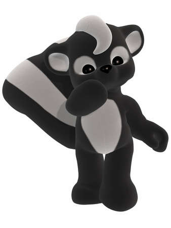 Cute Skunk - Toon Figure photo